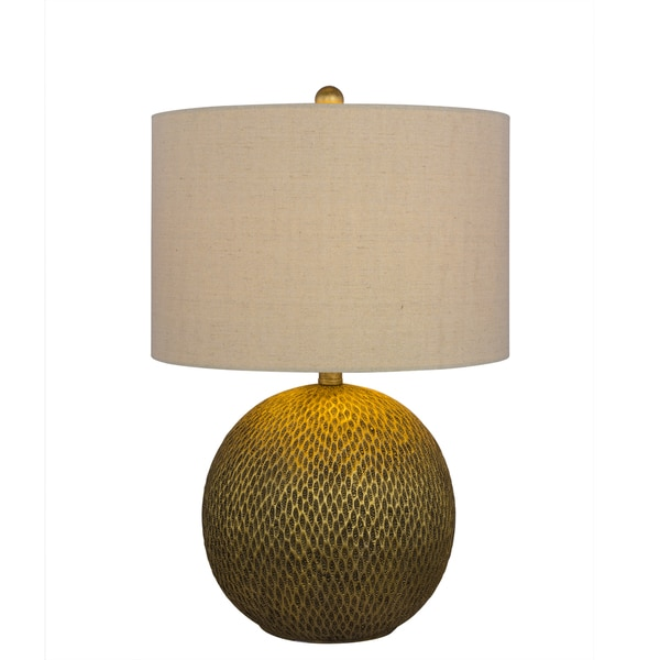 23.5 inch Resin Table Lamp in Gold Finish