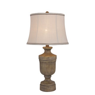 30 inch Resin Table Lamp in Wood Finish