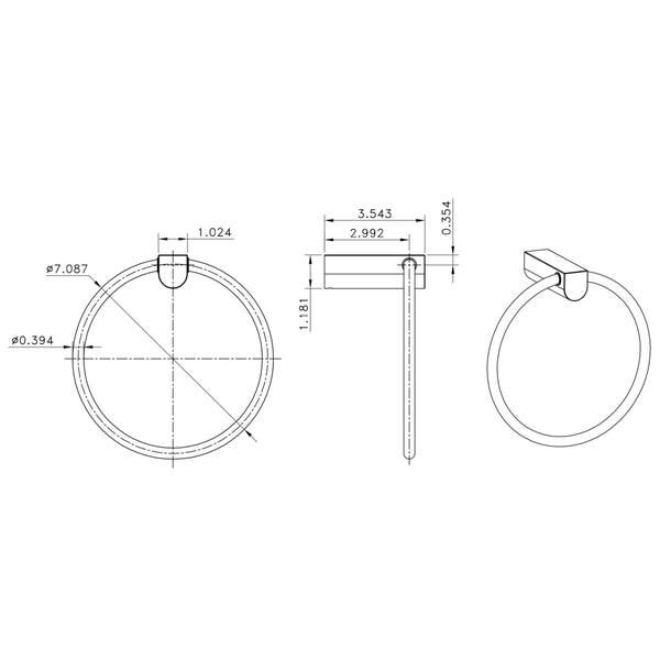 Brass Constructed Towel Ring In Chrome Finish Overstock 10824992
