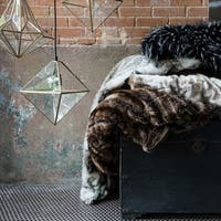 Plush Faux Fur Throw Blanket