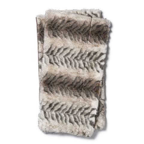 Plush Faux Fur Throw Blanket