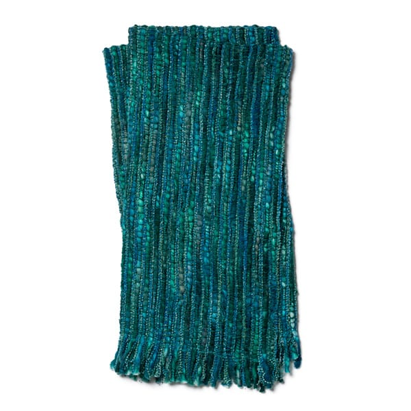 Hand Woven Emma Multi Colored Throw Blanket With Fringe