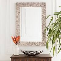 "Oldham Mother of Pearl Inlaid Rectangular Wall Mirror - ""28 x 40"""