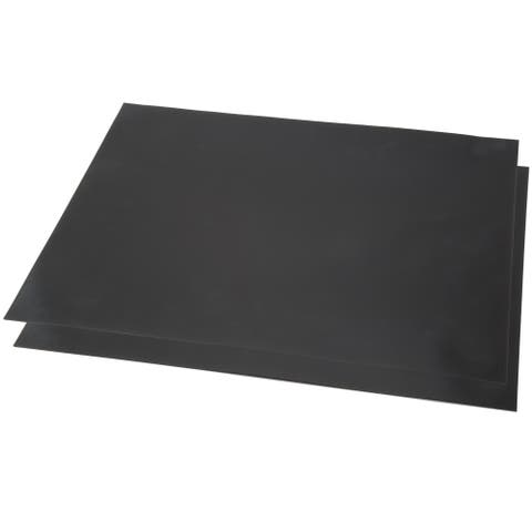 Nonstick BBQ Grill Mat, Set of 2- FDA Approved, Double Sided and Reusable Classic Cuisine - Black