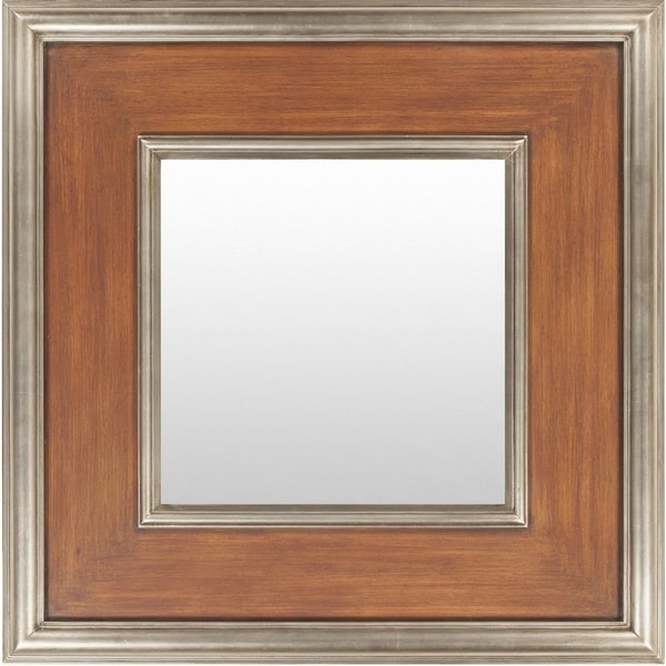 Bedale Wood Framed Small Size Square Wall Mirror