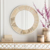Barnes Wood Framed Small Size Round Wall Mirror