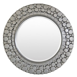 Farrah Wood Framed Large Size Round Wall Mirror