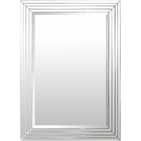 "Alijah Framed Medium Size Rectangular Beveled Wall Mirror - 30.5"" x 39"""