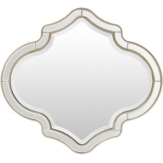 "Bobbie Framed Small Size Wall Mirror - Gold - 31.5"" x 35"""