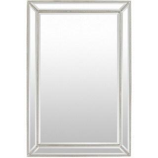 Danika Wood Framed Medium Size Rectangular Wall Mirror - Silver