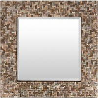 Schmit Mother of Pearl Inlaid Small Size Square Wall Mirror