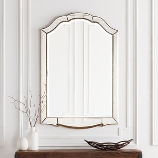 "Hector Elegant Antique Accented Arched Wall Mirror 31.5"" x 47.6"" - Gold - 31.5"" x 47.6"""