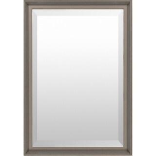 Monica Wood Framed Large Size Rectangular Wall Mirror