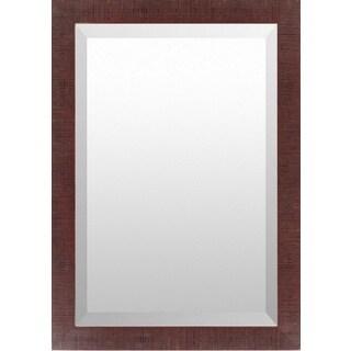 Miriam Wood Framed Large Size Rectangular Wall Mirror