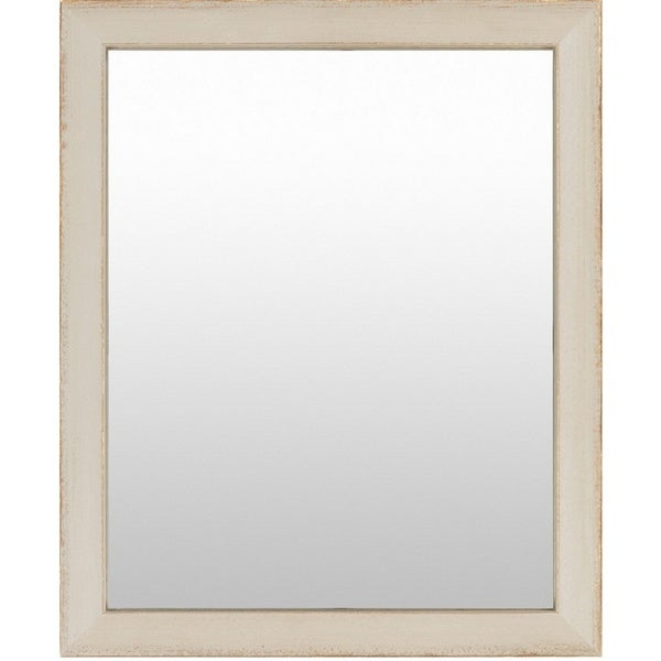 Ernest wood framed small size rectangular wall mirror for Small white framed mirrors