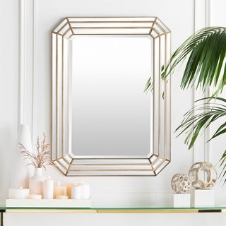 "Darius Framed Large Size Octagon Wall Mirror - Gold - 30"" x 40"""