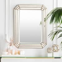 Darius Framed Large Size Octagon Wall Mirror - Gold
