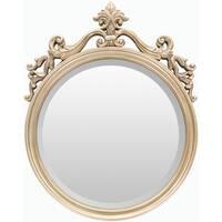 Alyson Polyurethane Framed Small Size Round Wall Mirror - Gold