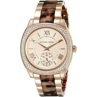 Michael Kors Women's MK6276 'Bryn' Crystal Tortoise Two-Tone Stainless Steel Watch
