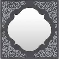 Amirah Framed Small Size Square Wall Mirror