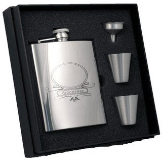 Visol Groomsman Stainless Steel Supreme Flask Gift Set - 8 ounces