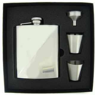 Visol Duo Two-Tone Stainless Steel Supreme Flask Gift Set - 8 ounces