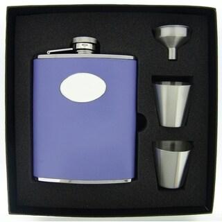 Visol Blossom Lavender Leather Supreme Flask Gift Set - 6 ounces