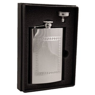 Visol Theseus Greek Design Stainless Steel Essential II Flask Gift Set - 8 ounces