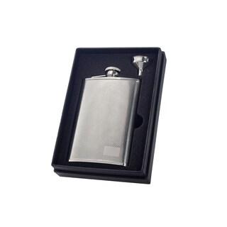 Visol Pixel Full Knit Patterned Essential II Liquor Flask Gift Set - 8 ounces