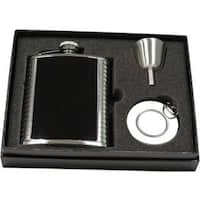Visol Astaire Black and Stainless Steel Stellar Flask Gift Set - 6 ounces