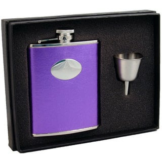 Visol Violet Satin Purple Legacy Flask Gift Set - 6 ounces