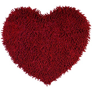 "Burgundy Shagadelic Chenille Twist (20x24"") Shag Heart"