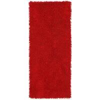 Red Shagadelic Chenille Twist Shag Runner - 2' x 5'