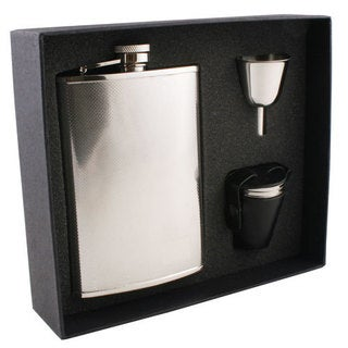 Visol Pixel Knit Stainless Steel Deluxe II Flask Gift Set - 8 ounces