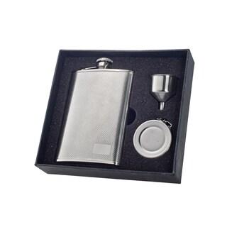 "Visol ""Pixel"" Stainless Steel 8oz Stellar Flask Gift Set"