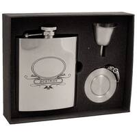 Visol Best Man Stainless Steel Stellar Flask Gift Set - 8 ounces