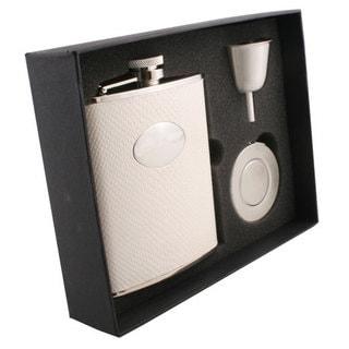 Visol Brilliance White Snakeskin Pattern Stellar Flask Gift Set - 6 ounces (Option: White)