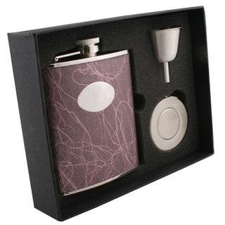 Visol Lightning Purple Stellar Flask Gift Set - 6 ounces