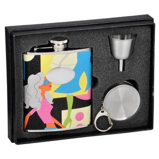 Visol Fashion Contemporary Stellar Flask Gift Set - 6 ounces