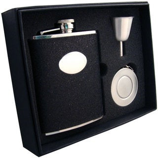 Visol Stardust Black Glitter Stellar Flask Gift Set - 6 ounces