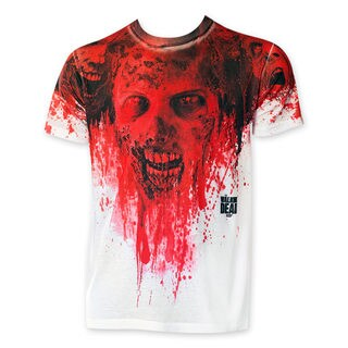 Walking Dead Sublimated Men's White Blood Zombie Tee Shirt