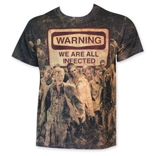 Walking Dead Sublimated We Are All Infected Tee Shirt