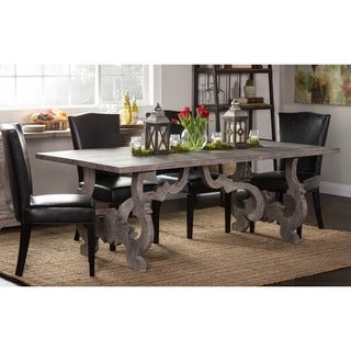 Kosas Home Handcrafted Meelie Grey Pine Dining Table