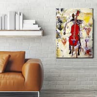 In the Groove' Abstract Wrapped Canvas Wall Art