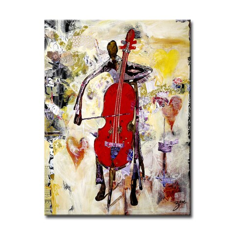 'In the Groove' Wrapped Canvas Abstract Wall Art