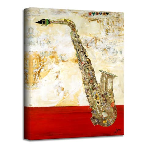 All Dat Clean' Abstract Wrapped Canvas Wall Art