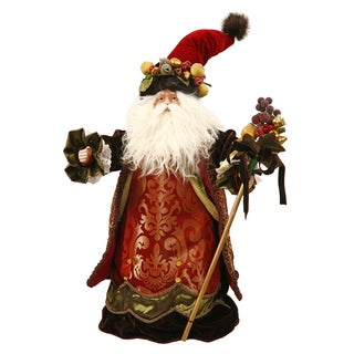 "Santa Figurine With Dellarobia Hat 22"" Tall"