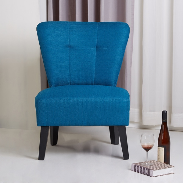 Sitswell Maddie Blue Modern Contemporary Accent Chair