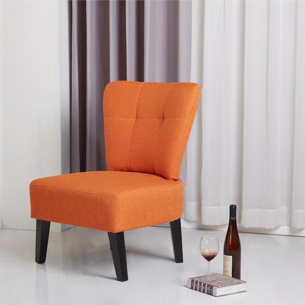 Porter International Designs Sitswell Maddie Orange Modern Contemporary  Accent Chair