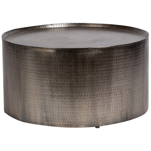 Porter Round Coffee Table: Shop Handmade Porter Rotonde Hammered Metal Industrial